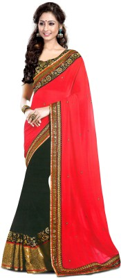 Colour Trendz Self Design Fashion Georgette Sari
