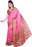 Ishin Printed Fashion Art Silk Saree (Pi...