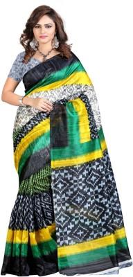 Heaven Deal Printed Fashion Silk Cotton Blend Sari