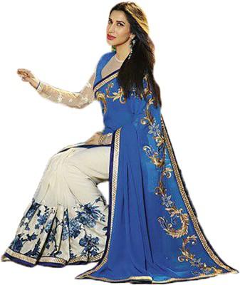 Gehna Saree Embriodered Bollywood Georgette Sari