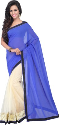 Shree Parmeshwari Self Design Fashion Net, Georgette Sari