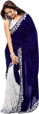 Kaali Fashion Self Design Fashion Velvet Sari