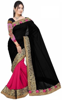 Ty Enterprise Embriodered Bollywood Handloom Georgette Sari