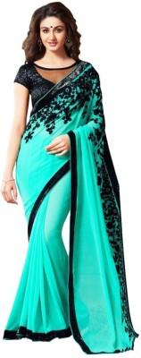 U Enterprises Geometric Print Fashion Tissue Silk Sari