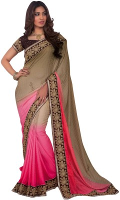 Shop Plaza Embriodered Daily Wear Jacquard Sari