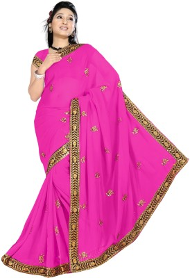 Shraddha Fashion Solid Fashion Chiffon Sari