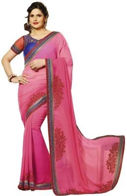 Riva Self Design Fashion Handloom Georgette Sari