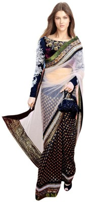 Deepjyoti Creation Self Design Fashion Viscose Sari