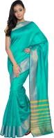 Aryahi Solid Mysore Art Silk Sari(Green)