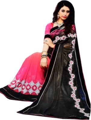 Ahuja Embriodered Bollywood Handloom Velvet, Georgette Sari