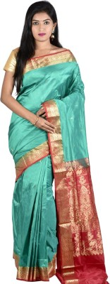 Sri Hanuman Silks Solid Fashion Pure Silk Sari