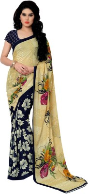 Kashvi Sarees Printed Daily Wear Synthetic Georgette Sari