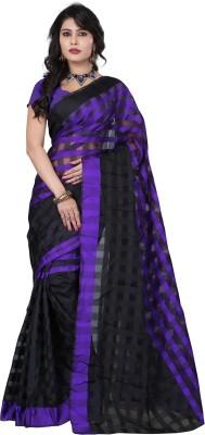 FabPandora Floral Print Fashion Art Silk Sari