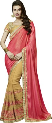 Manvaa Embriodered Fashion Chiffon Sari