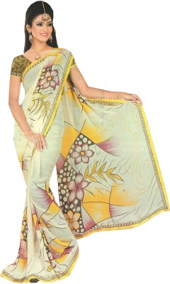 Vashishtha Lifestyle Printed Fashion Shimmer Fabric Sari
