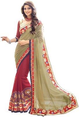 Amar Enterprice Embriodered Daily Wear Georgette Sari