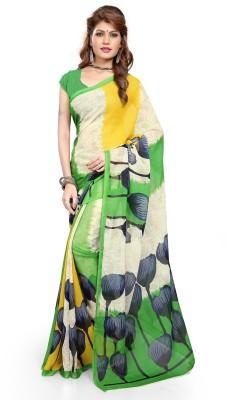 Luxuria Printed Daily Wear Georgette Sari