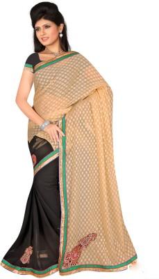 Salasar Self Design Fashion Synthetic Georgette Sari