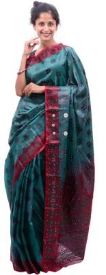 Alamin Self Design Fashion Silk Sari