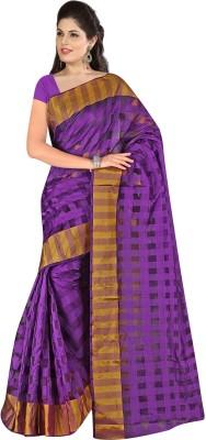 Kajal Syntex Checkered Chanderi Art Silk Sari
