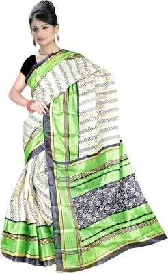 Maxusfashion Printed Fashion Art Silk Sari