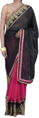 Parmar Design Self Design Bollywood Polyester, Georgette Sari