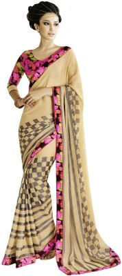Ethnic For You Printed Fashion Brasso Sari
