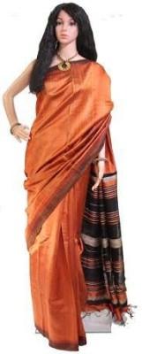 Anukriti Solid Bhagalpuri Raw Silk Sari