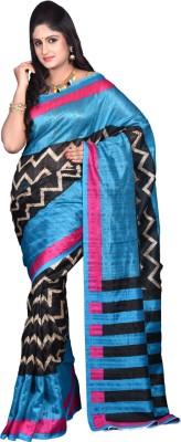 Glamorous Lady Printed Fashion Silk Cotton Blend Sari