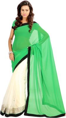 Stylo Designer Solid Fashion Georgette, Net Sari