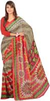 Party Wear Dresses Printed Fashion Art Silk Sari(Multicolor)