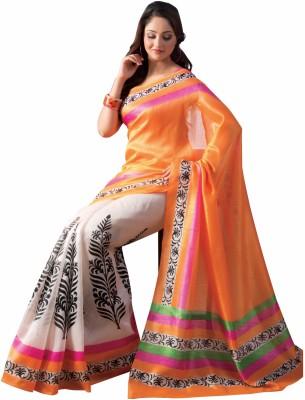SanjuFashion Printed Fashion Chiffon Sari