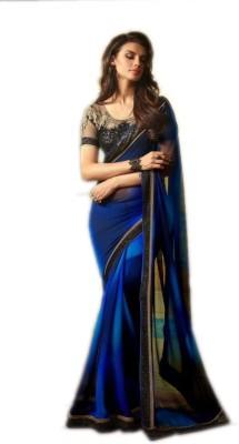 Mayka Designer Self Design Fashion Georgette Sari
