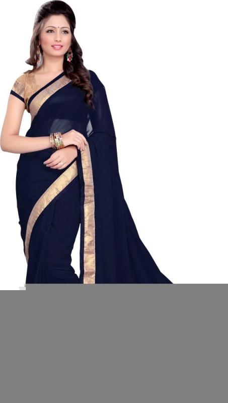 Khantil Self Design Bollywood Georgette Saree(Blue)