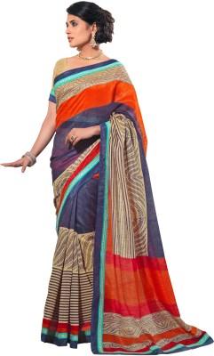 Stylish Fashion Printed Fashion Silk Cotton Blend Sari