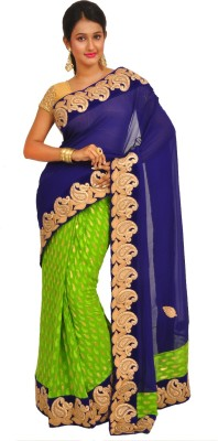 Anamika Collection Self Design Fashion Pure Georgette Sari
