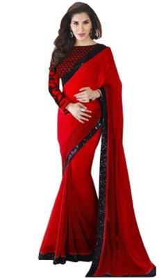 Shraddha Fashion Embellished Fashion Georgette Sari
