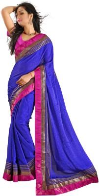 Design Villa Plain Bollywood Jacquard Sari