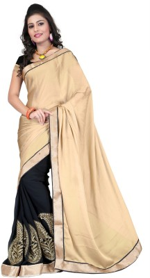 Anwesha Sarees Self Design, Solid Fashion Chiffon Sari