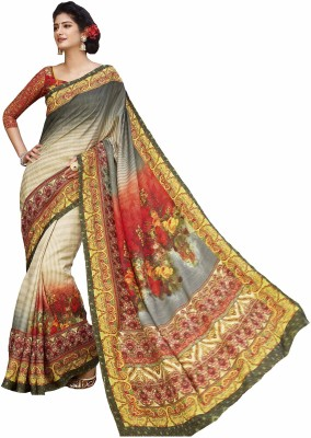 Vipul Saree Digital Prints Bhagalpuri Art Silk Sari