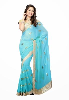 Rangsthali Solid Fashion Chiffon Sari