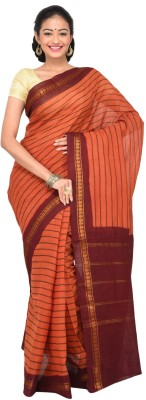 Madurai Classics Striped Sungudi Cotton Sari