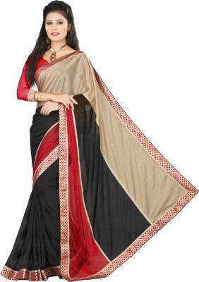 Om Shree Vallabh Self Design Banarasi Lycra Sari