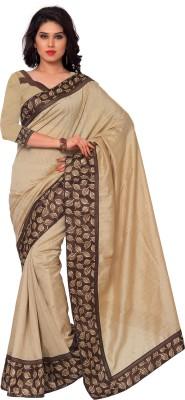 Sarvagny Clothing Solid, Floral Print Bollywood Banarasi Silk Sari