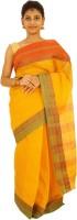 Laavi Fashion Embroidered Tant Handloom Cotton Sari(Multicolor)