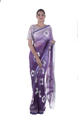 Surbhi Applique Fashion Chiffon Sari