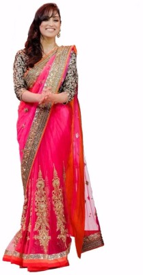 Jay Ambe Embriodered Bollywood Handloom Georgette Sari