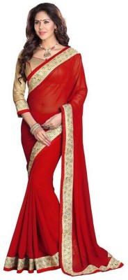 Fashionatics Embriodered Fashion Georgette Sari