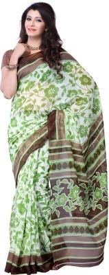 Ruda Floral Print Fashion Handloom Art Silk Sari