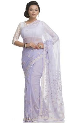 Ada Floral Print Lucknow Chikankari Handloom Georgette Sari